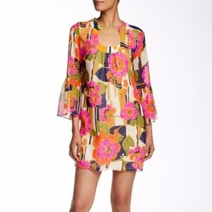 Trina Turk Bonita Silk Floral Shift Dress Size 4